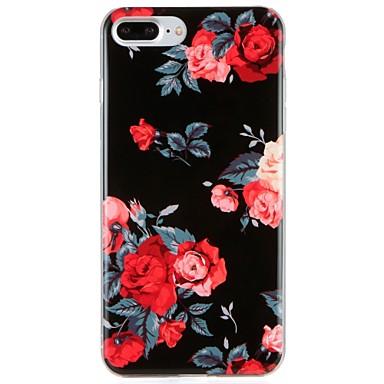 Caz pentru Apple iphone 7 plus iphone 7 acoperă modelul squishy spate caz acoperă tpu floare pentru iphone 6s plus iphone 6 plus iphone 6s