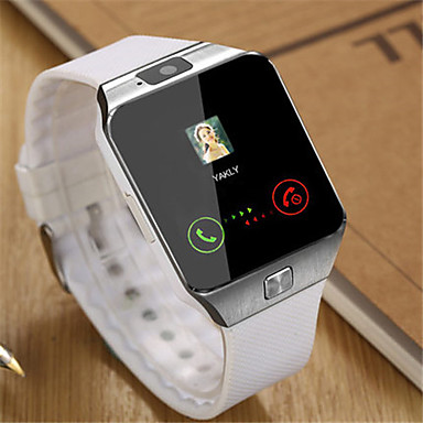 Heren Modieus horloge Polshorloge Smart horloge Digitaal Rubber Band Zwart Wit Bruin