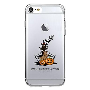 Maska Pentru Apple iPhone 7 Plus iPhone 7 Transparent Model Capac Spate Halloween Fruct Moale TPU pentru iPhone 7 Plus iPhone 7 iPhone 6s