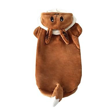 Hond kostuums Hondenkleding Cartoon Koffie Pluche stof Kostuum Voor huisdieren Heren Dames Cosplay