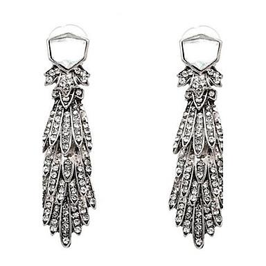 Damen Tropfen-Ohrringe Strass Sexy überdimensional Bling Bling Aleación Feder Schmuck Für Hochzeit Party Verlobung Formal