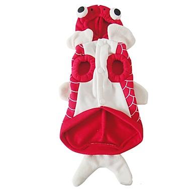 كلب ازياء تنكرية ملابس الكلاب حيوان أحمر قماش قطيفة قطن بطانة فرو كوستيوم للحيوانات الأليفة للرجال للمرأة الكوسبلاي