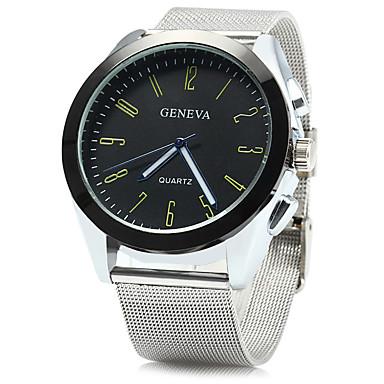 Herrn Modeuhr Armbanduhr Armbanduhren für den Alltag Chinesisch Quartz Großes Ziffernblatt Metall Band Freizeit Cool Weiß