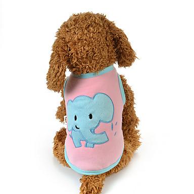 كلب سترة ملابس الكلاب كاجوال/يومي حيوان أزرق زهري كوستيوم للحيوانات الأليفة