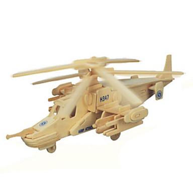 Puzzle 3D Puzzle Modele de Lemn Rezervor Aeronavă Luptător Lemn Lemn natural Pentru copii Unisex Cadou