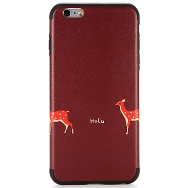 Caz pentru Apple iphone 7 plus iphone 7 acoperă modelul spate acoperă cazul cuvânt / frază animal moale tpu pentru iphone 6s plus iphone 6
