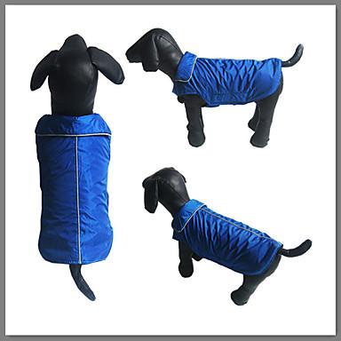 Hund Weste Hundekleidung Solide Rot Blau Schwarz Baumwolle Daune Kostüm Für Haustiere Sport
