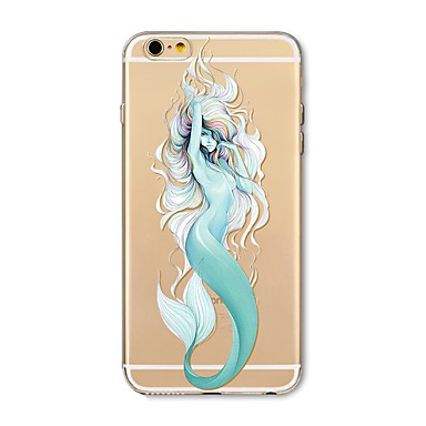 hoesje Voor Apple iPhone X iPhone 8 Plus Transparant Patroon Achterkantje Sexy dame dier Cartoon Zacht TPU voor iPhone X iPhone 7s Plus