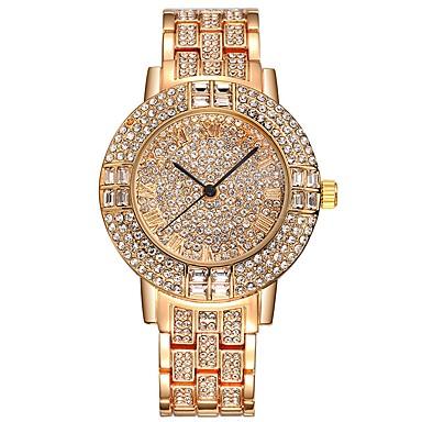 Dames Kwarts Pavé horloge Armbandhorloge Sporthorloge Chinees Strass imitatie Diamond Roestvrij staal Band Amulet Luxe Creatief Informeel