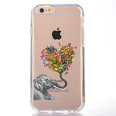Maska Pentru Apple iPhone 7 Plus iPhone 7 Transparent Model Capac Spate Inimă Elefant Moale TPU pentru iPhone 7 Plus iPhone 7 iPhone 6s