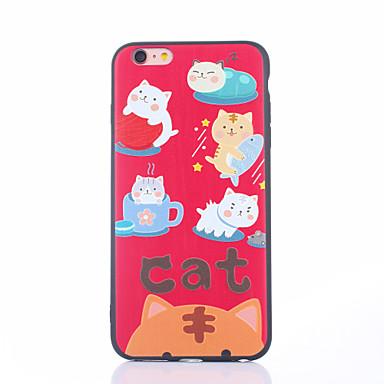 Caz pentru iphone 7 7 plus pisica de desene animate pentru protectia pielii tpu protectie spate pentru 6s 6splus 6 6plus