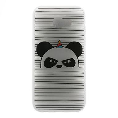 hoesje Voor Samsung Galaxy A5(2016) A3(2016) Patroon Achterkantje Lijnen / golven Panda Zacht TPU voor A5 (2017) A5(2016) A3(2016)