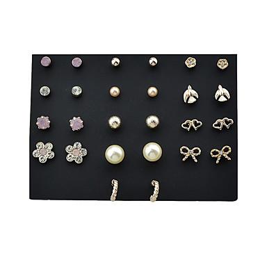 Pentru femei Cercei Picătură Bijuterii Design Basic Perle Aliaj Geometric Shape Number Shape Bijuterii Pentru Zilnic Casual