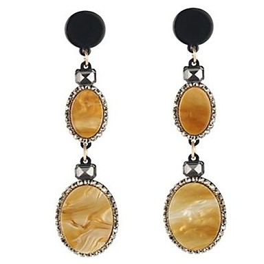 للمرأة أقراط قطرة عتيقة شخصية المتضخم سبيكة Oval Shape مجوهرات من أجل فضفاض مواعدة عطلة