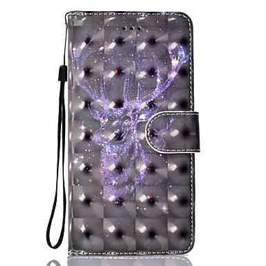 Hülle Für Apple iPhone 7 Plus iPhone 7 Kreditkartenfächer Geldbeutel mit Halterung Flipbare Hülle Magnetisch Muster Ganzkörper-Gehäuse