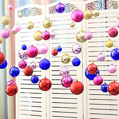 مجموعة من (20 قطعة) لون عشوائي إيفا عيد الكرة سلسلة الحلي زينت السنة الجديدة حفل زفاف احتفالي المشهد الديكور تخطيط المنزل
