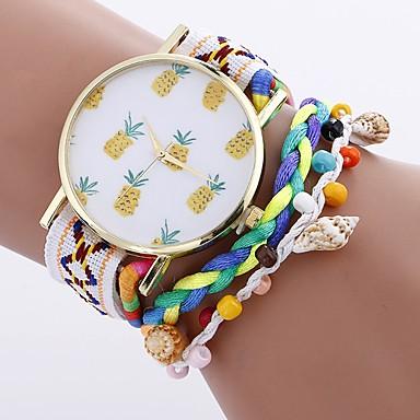Pentru femei Ceas de Mână Chineză Creative PU Bandă Charm / Casual / Boem Negru / Alb / Albastru