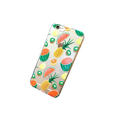 용 아이폰6케이스 / 아이폰6플러스 케이스 투명 / 패턴 케이스 뒷면 커버 케이스 과일 소프트 TPU iPhone 6s Plus/6 Plus / iPhone 6s/6