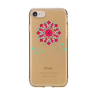 Maska Pentru Apple iPhone 7 Plus iPhone 7 Transparent Model Capac Spate Mandala Moale TPU pentru iPhone 7 Plus iPhone 7 iPhone 6s Plus