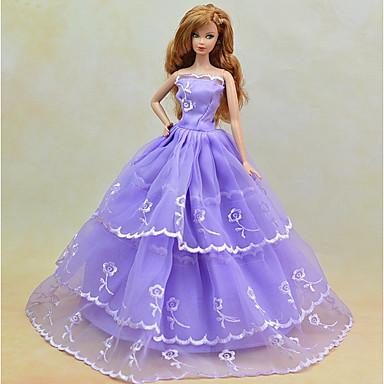 Jurken Pukeutua Voor Barbiepop Linnen/Katoen Satijn/tule Kleding Voor voor meisjes Speelgoedpop