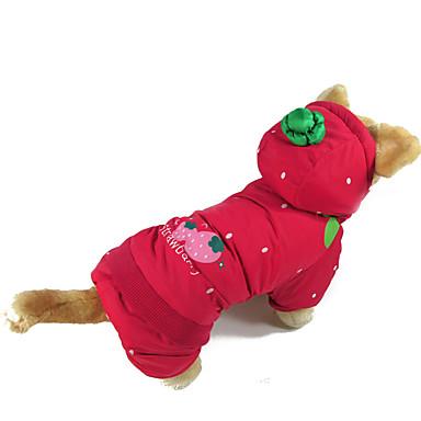 Câine Haine Îmbrăcăminte Câini Casul/Zilnic Floral/Botanic Rosu