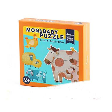Puzzle Puzzle Lemn Jucării Educaționale Jucarii Taur Other desen animat în formă Fruct Lemn Unisex Bucăți