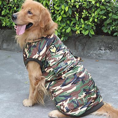 كلب كنزة ملابس الكلاب كاجوال/يومي مخطط تمويه اللون كوستيوم للحيوانات الأليفة
