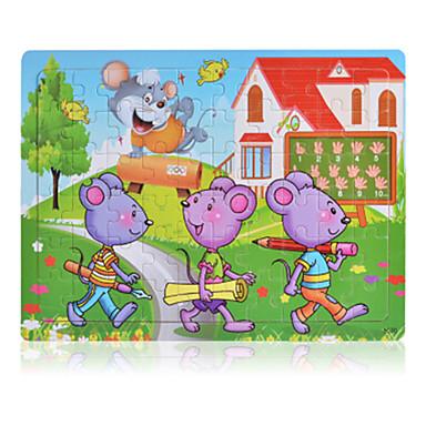 Puzzles Holzpuzzle Bausteine Spielzeug zum Selbermachen Maus