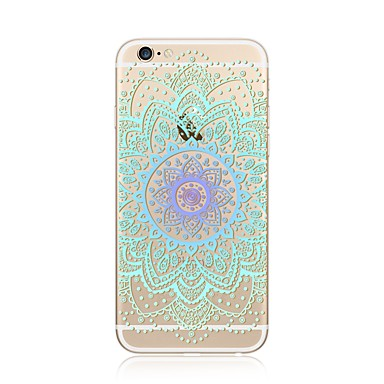 hoesje Voor Apple iPhone X iPhone 8 Plus Transparant Patroon Achterkantje Mandala Lace Printing Zacht TPU voor iPhone X iPhone 7s Plus