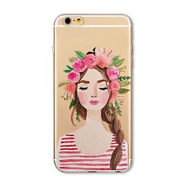 Maska Pentru Apple iPhone X iPhone 8 Plus Transparent Model Carcasă Spate Femeie Sexy Moale TPU pentru iPhone X iPhone 8 Plus iPhone 8