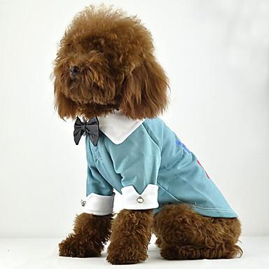 كلب T-skjorte ملابس الكلاب حرف وعدد برتقالي أرجواني أزرق زهري قطن كوستيوم للحيوانات الأليفة للرجال للمرأة كاجوال/يومي