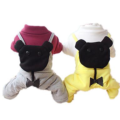 Hond Jumpsuits Hondenkleding Casual/Dagelijks Effen Grijs Geel Kostuum Voor huisdieren