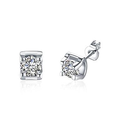 Pentru femei Zirconiu Cubic Zirconiu Cercei Stud - De Bază Auriu Argintiu Maro deschis cercei Pentru Nuntă Petrecere Zilnic Casual Birou