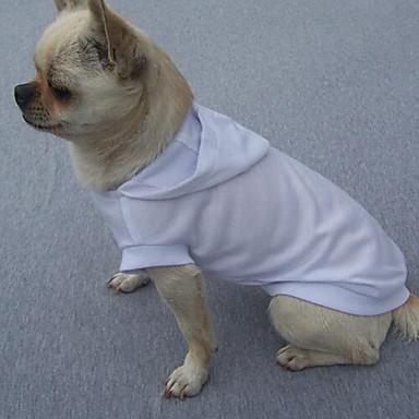 Câine Tricou Hanorace cu Glugă Îmbrăcăminte Câini Mată Rosu Albastru Roz Bumbac Costume Pentru animale de companie Vară Bărbați Pentru
