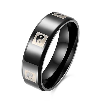 Dames Roestvast staal Ring - Cirkelvorm Cirkelvormig ontwerp Grijs Ring Voor Feest Dagelijks Causaal