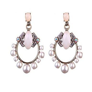Damen Imitierte Perlen Personalisiert Sexy nette Art Modisch Aleación Runde Form Schmuck Für Party Formal Verabredung
