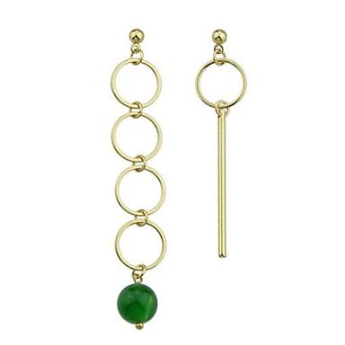 Pentru femei Nepotrivirea Cercei Stud - stil minimalist / Modă / Nepotrivirea Verde Rotund cercei Pentru Zilnic / Dată / Concediu