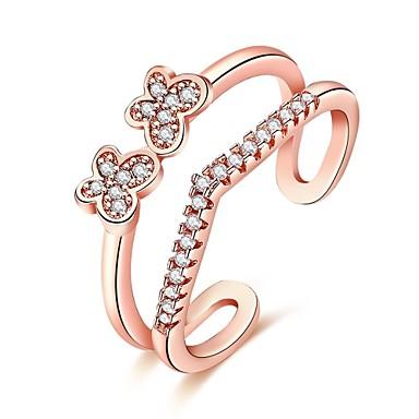 Pentru femei manşetă Ring Zirconiu Cubic Design Basic bijuterii de lux stil minimalist Clasic costum de bijuterii La modă Vintage Bohemia
