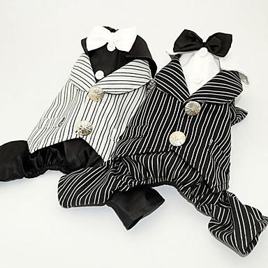 Hund Smoking Hundekleidung Party Hochzeit Streifen Weiß Schwarz Kostüm Für Haustiere
