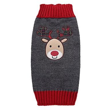 Câine Haine Pulovere Îmbrăcăminte Câini Petrecere Nuntă Casul/Zilnic Modă Crăciun Anul Nou Crăciun Gri Costume Pentru animale de companie