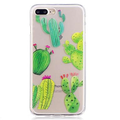 hoesje Voor Apple iPhone 7 Plus iPhone 7 IMD Transparant Patroon Achterkant Boom Zacht TPU voor iPhone 7 Plus iPhone 7 iPhone 6s Plus