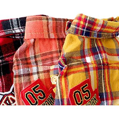 كلب T-skjorte ملابس الكلاب كاجوال/يومي منقوشة / تصفح برتقالي أصفر أحمر كوستيوم للحيوانات الأليفة