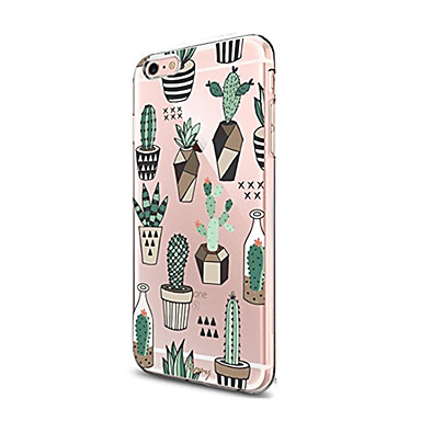 abordables Coques pour iPhone 5-Coque Pour iPhone 7 / iPhone 7 Plus / iPhone 6s Plus Transparente / Motif Coque Arbre Flexible TPU pour iPhone 7 Plus / iPhone 7 / iPhone 6s Plus