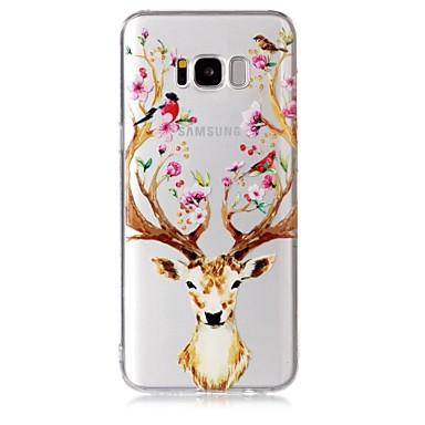 Maska Pentru Samsung Galaxy S8 Plus S8 Transparent Model Capac Spate Floare Animal Moale TPU pentru S8 Plus S8 S7 edge S7