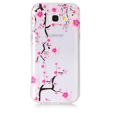 Maska Pentru Samsung Galaxy A5(2017) A3(2017) Transparent Model Carcasă Spate Floare Moale TPU pentru A3 (2017) A5 (2017) A5(2016)