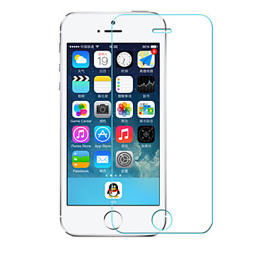 beittal® 0,26 milímetros arredondado borda 9h transparente protetor de tela membrana de vidro temperado para iphone 5 / 5s / 5c