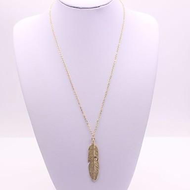 Pentru femei Leaf Shape Coliere cu Pandativ - Clasic Modă Leaf Shape Auriu Argintiu Coliere Pentru Cadou Zilnic Serată Scenă