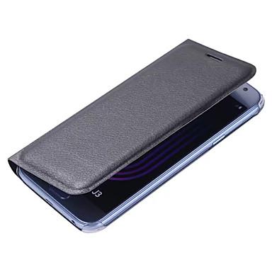 Maska Pentru Samsung Galaxy J7 (2017) J3 (2017) Titluar Card Întoarce Carcasă Telefon Culoare solidă Greu PU piele pentru J7 Prime J7