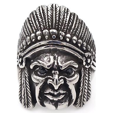 للمرأة قديم بوهيميان بانغك الفولاذ المقاوم للصدأ جمجمة مجوهرات فضفاض خشبة المسرح نادي