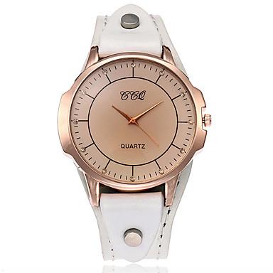 Pentru femei Simulat Diamant Ceas Unic Creative ceas Ceas de Mână Ceas Brățară Ceas La Modă Ceas Casual Chineză Quartz cald Vânzare Piele